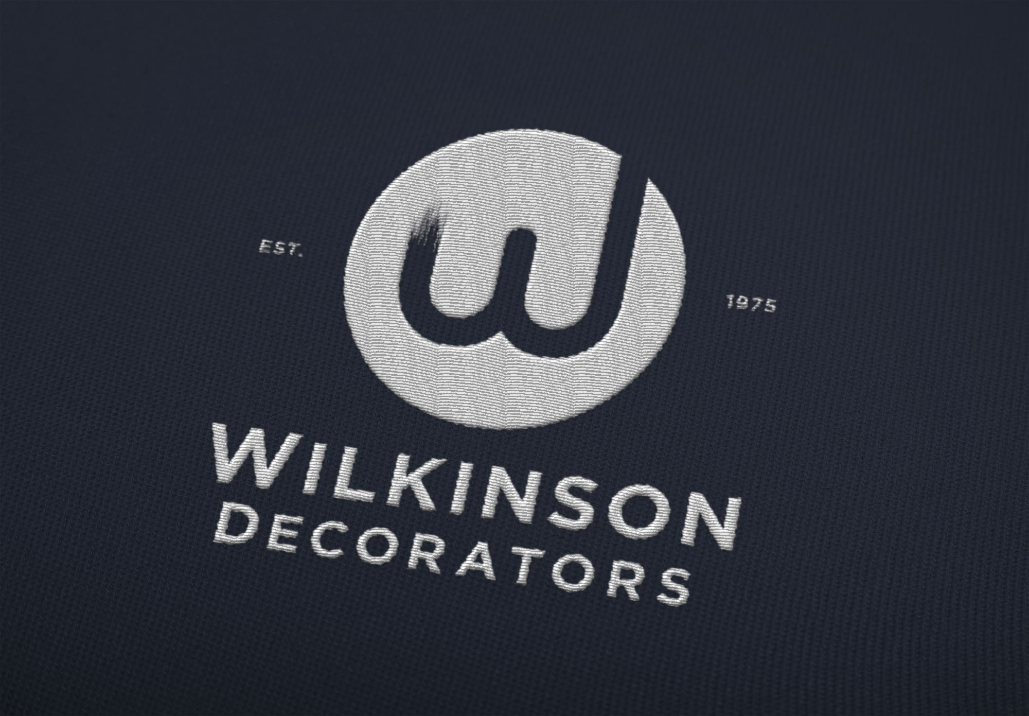 Embroidered logo design