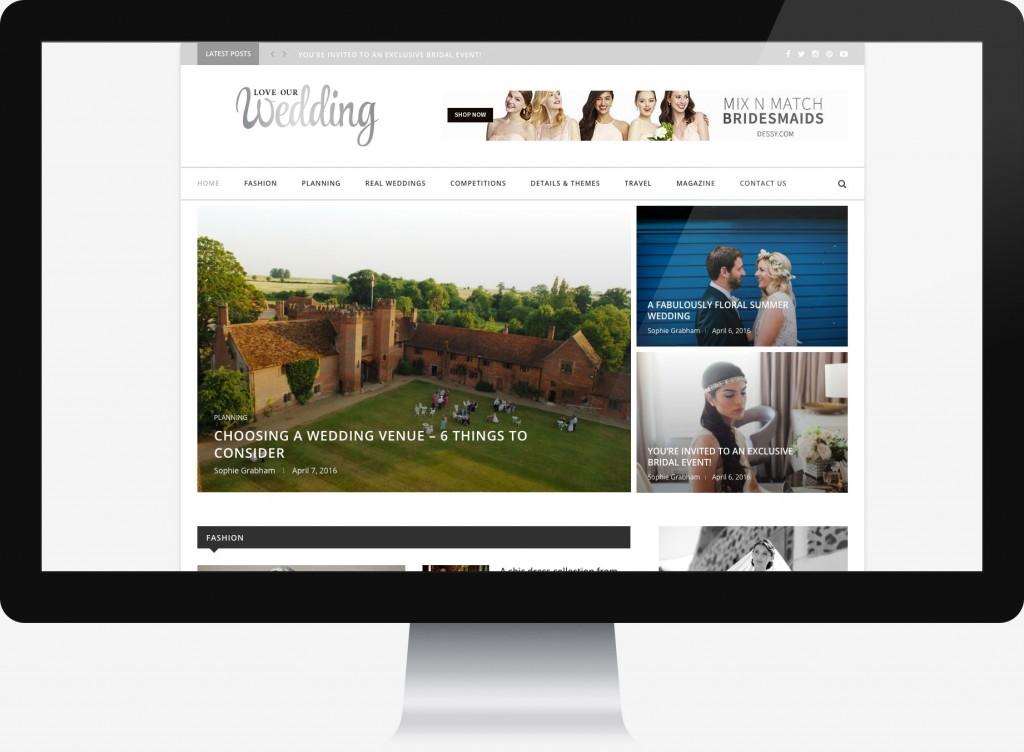 Online blog site for website design
