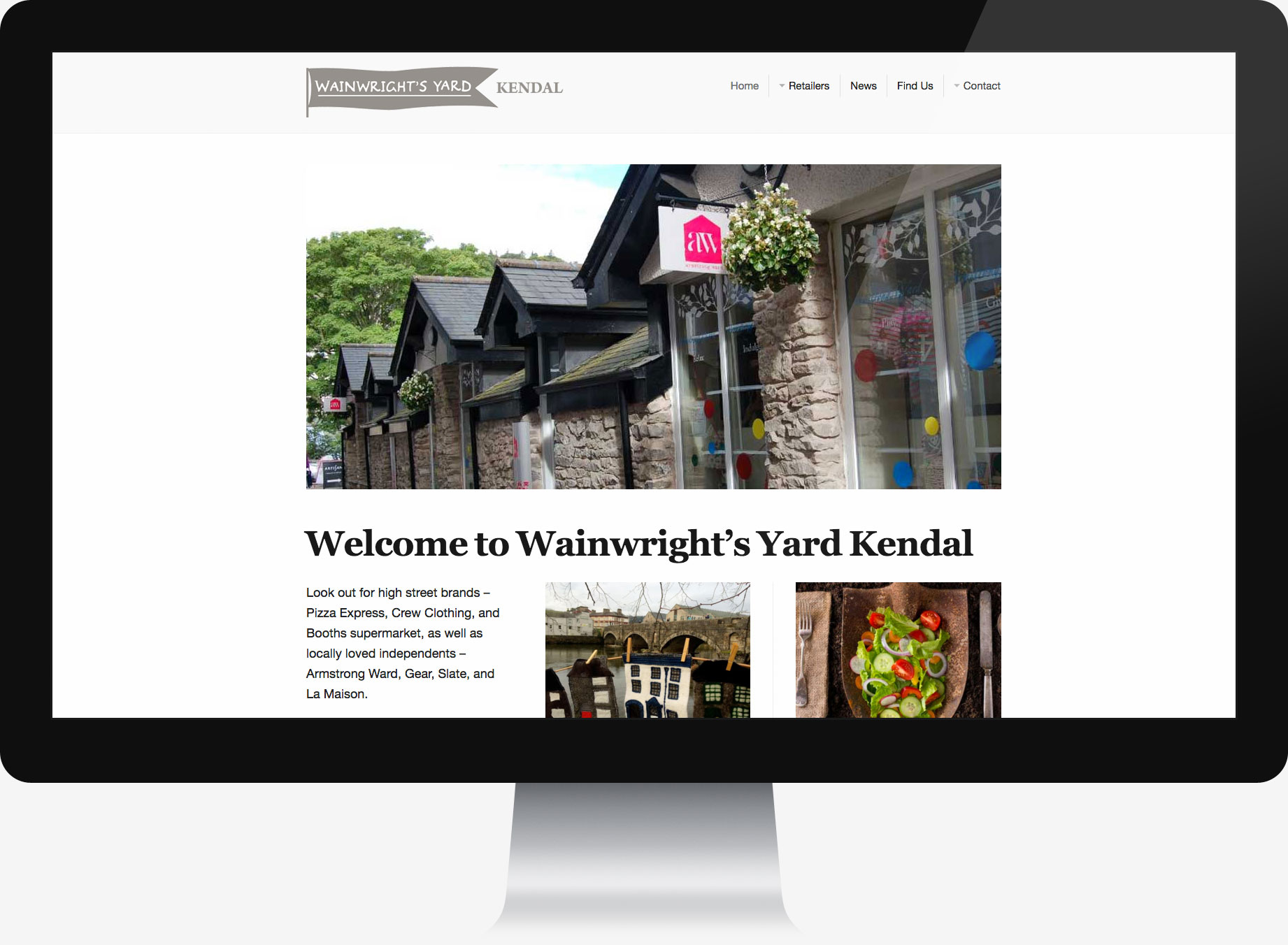 Retail shops website design
