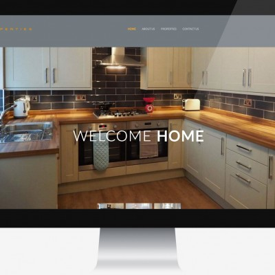 Property company website homepage