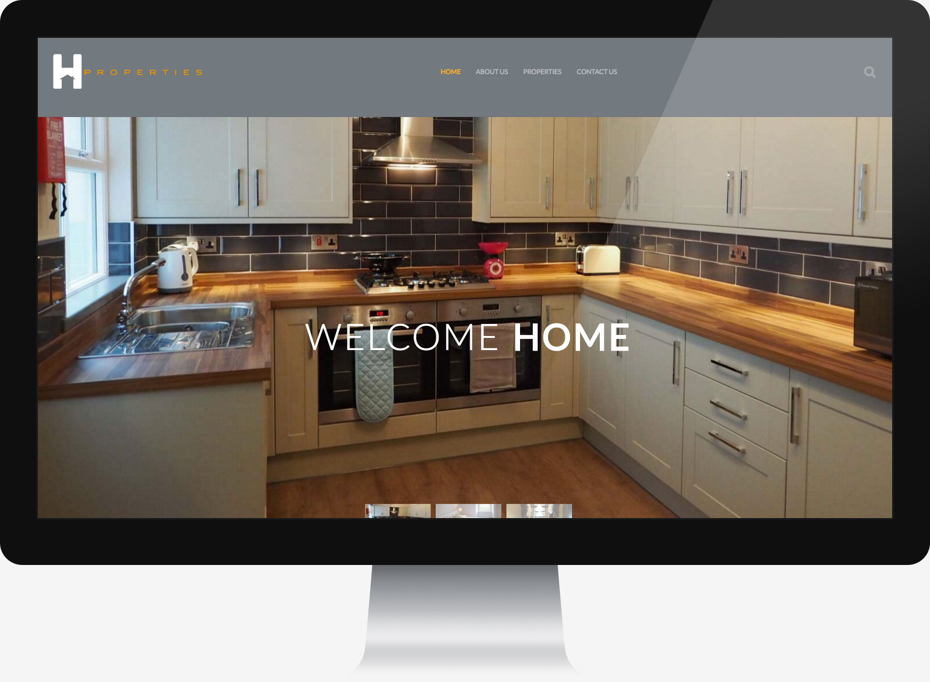 Property company website homepage