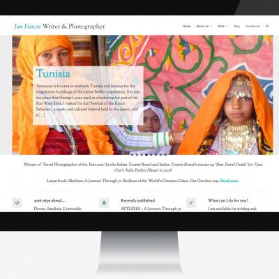 Travel Writers website design.