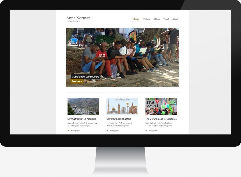 Website design for travel writer