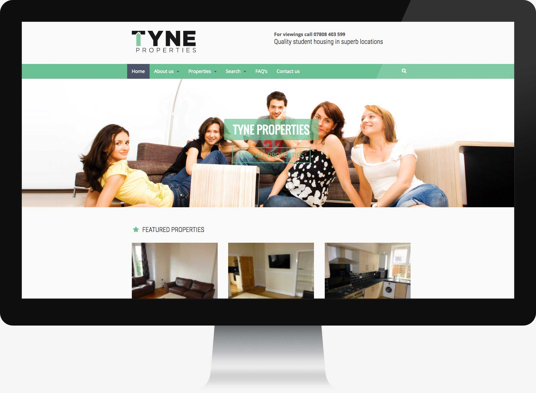 Homepage design for website