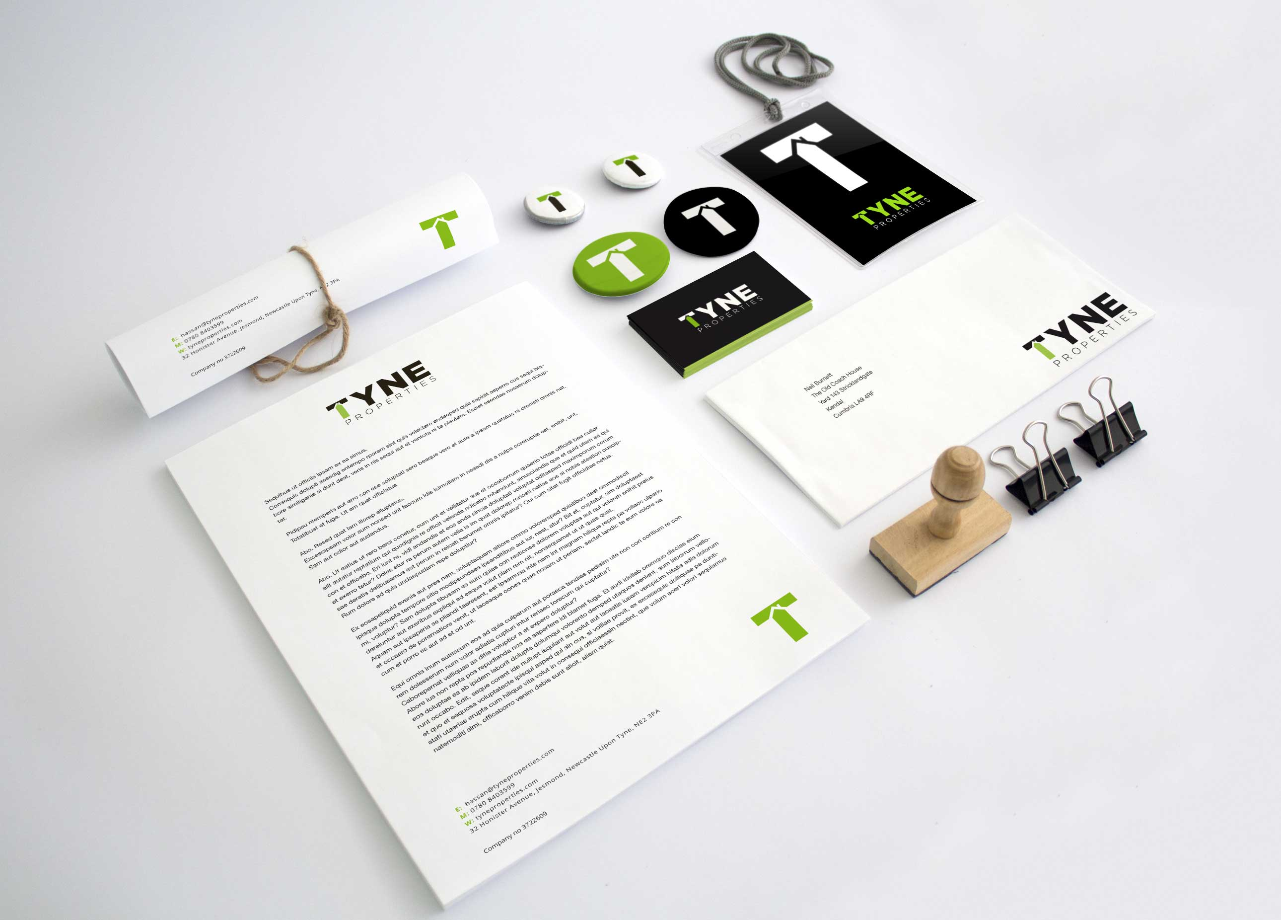 Branding design for print graphics.
