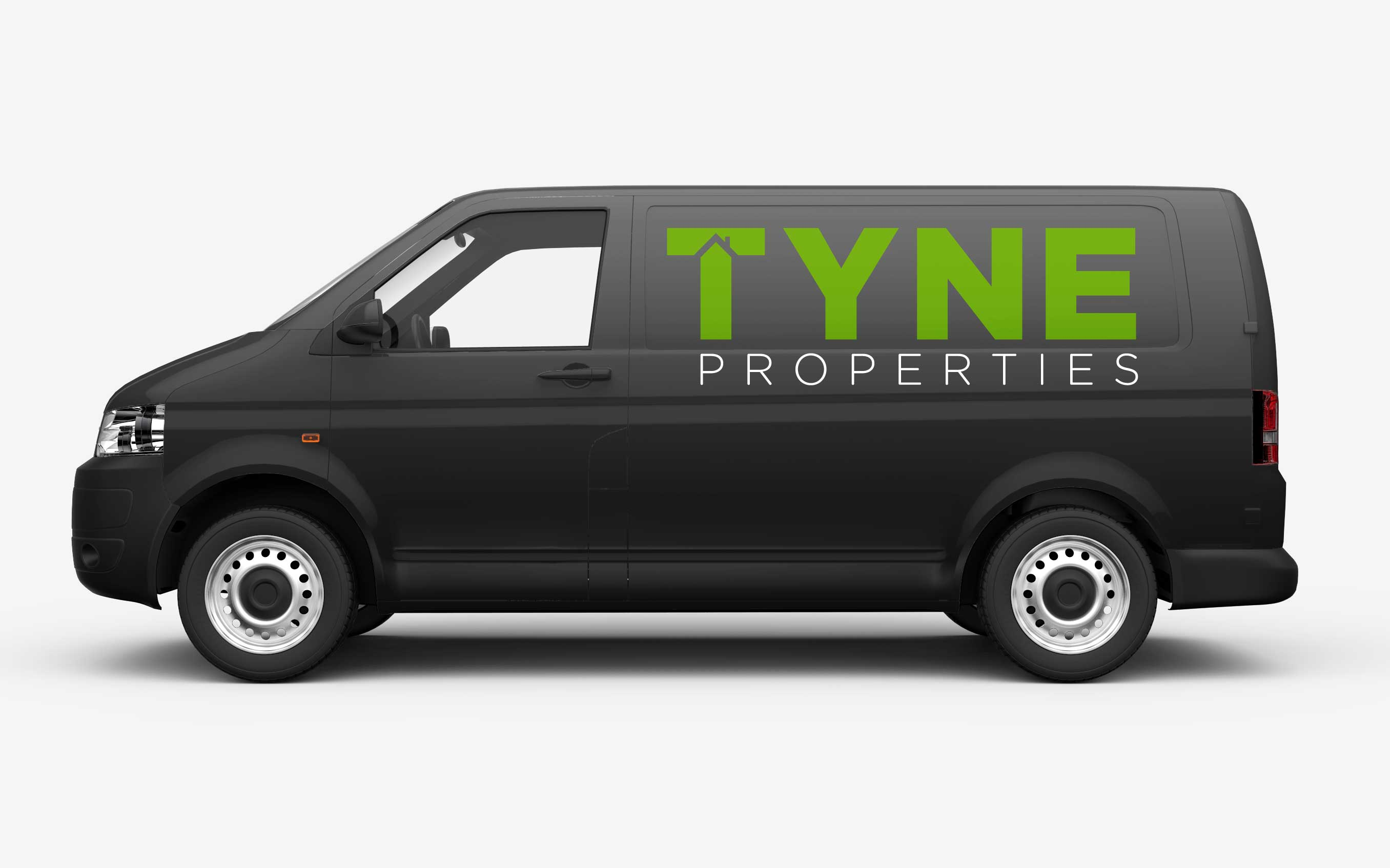 Van graphics after branding is finished.