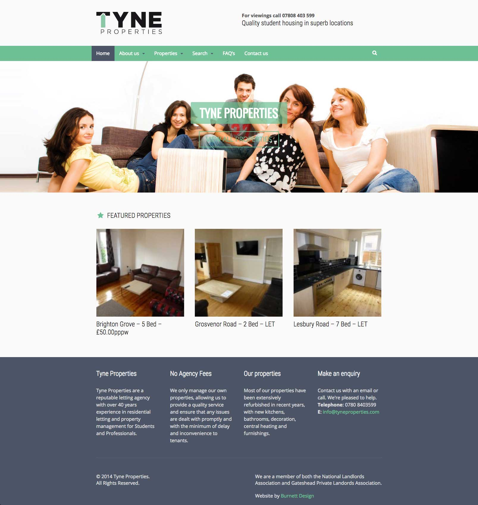 Website design for property website