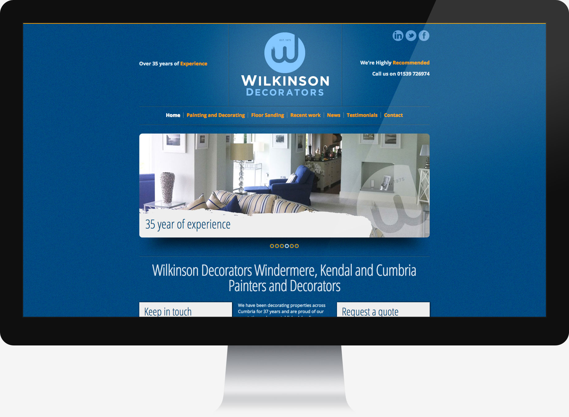 Wilkinson Decorators Website design