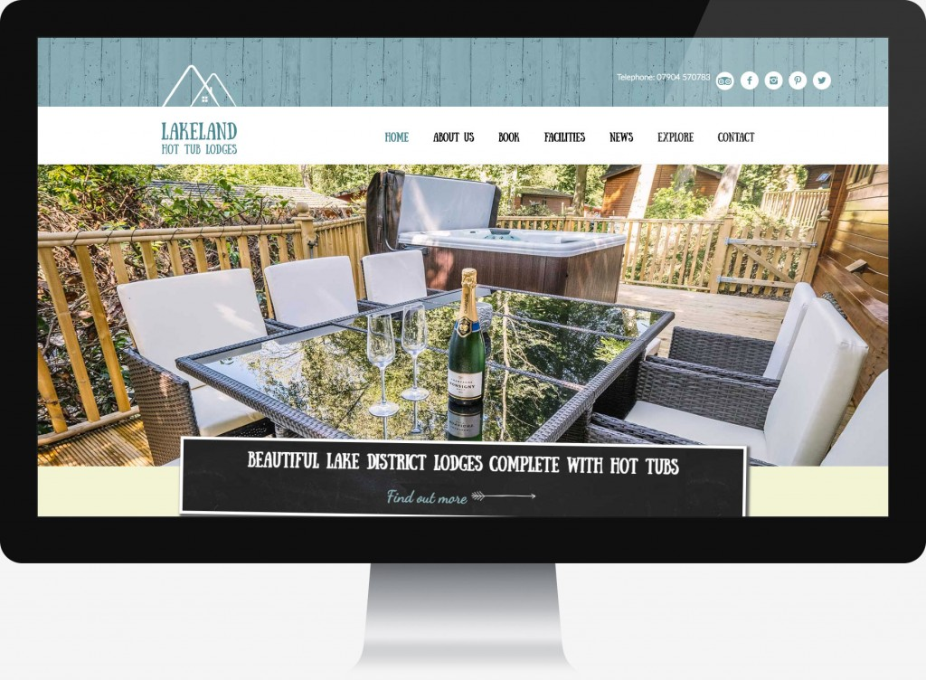 Web design for Lakeland Hot Tub Lodges