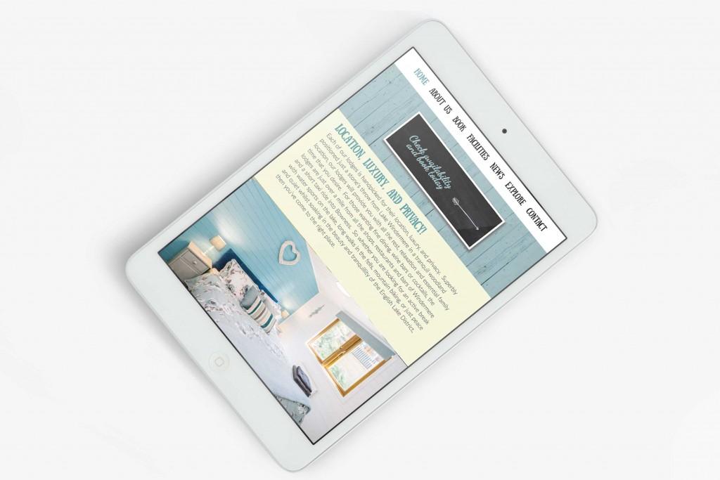 iPad design for Lakeland Hot Tub Lodges