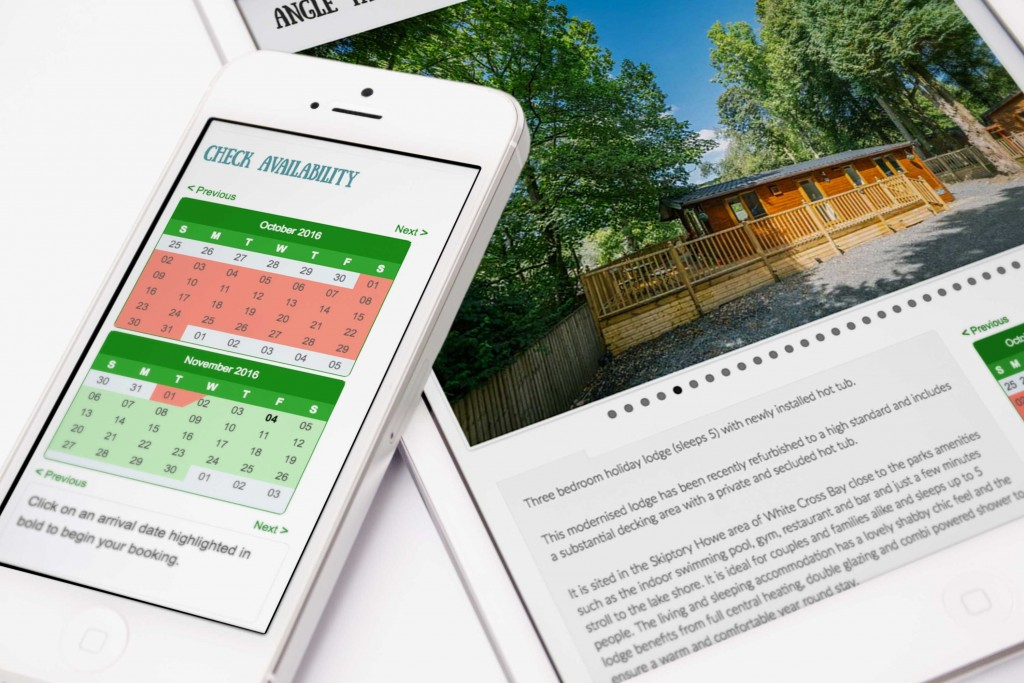 Booking system for Lakeland Hot Tub Lodges