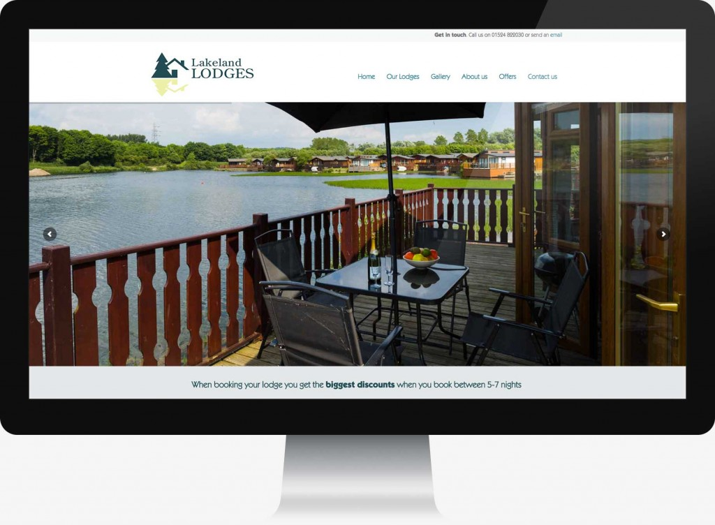 Lakeland Lodges website design