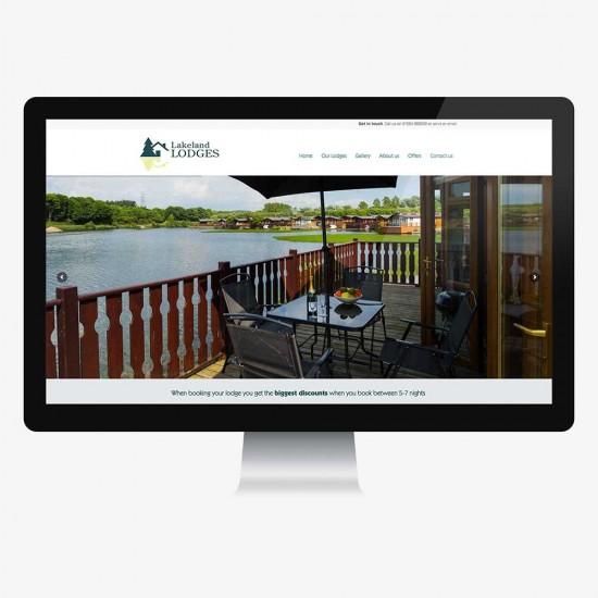 Website design for Lakeland Lodges